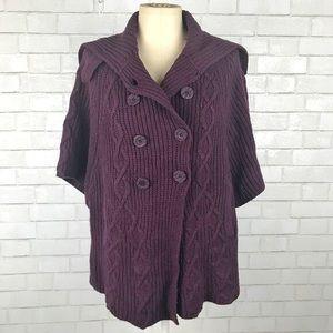 Anthropologie - Knit Poncho Jacket